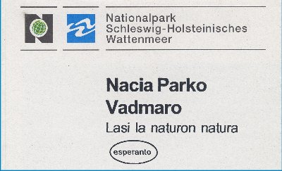 Broschüre Nationalpark Wattenmeer